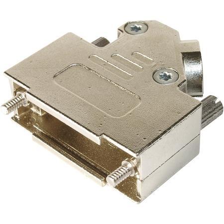 D-Sub 9 pol. Gehäuse aus Metall 45°