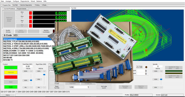 IP-S-6 Ethernet Controller mit Mach4 Hobby Version