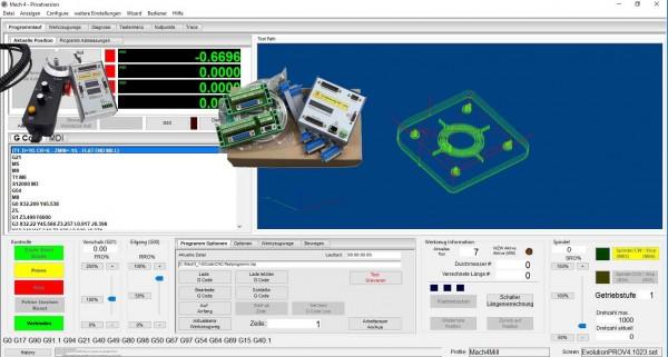 IP-M 4 Ethernet Controller mit Mach4 incl. Handrad