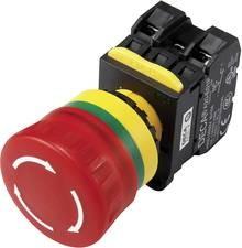 Not-Aus-Schalter mit Kontaktelement 240 V/AC 6A 2 Öffner