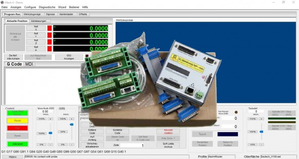 IP-M mit Mach4 Software