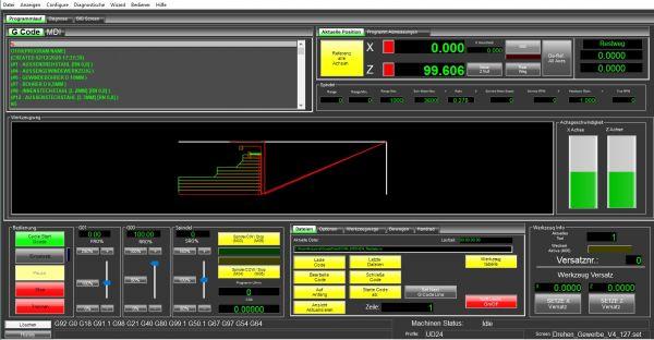 Mach4 Software Drehen Gewerbe Version Deutsch