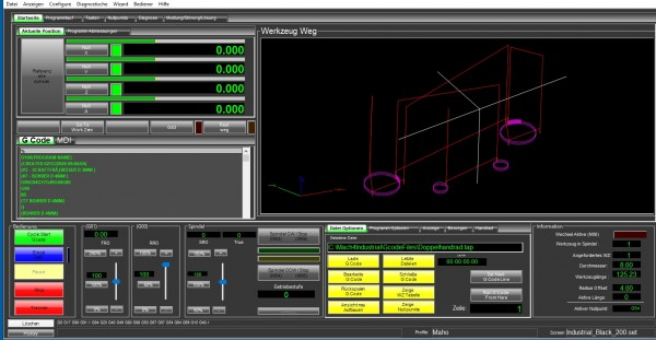 Mach4 Software Fräsen Gewerbe Version Deutsch