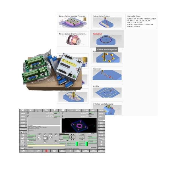 CNC Steuerung 4 Achsen incl. Mach 3 Vollversion Fräsen und ECam V4 Fräsen