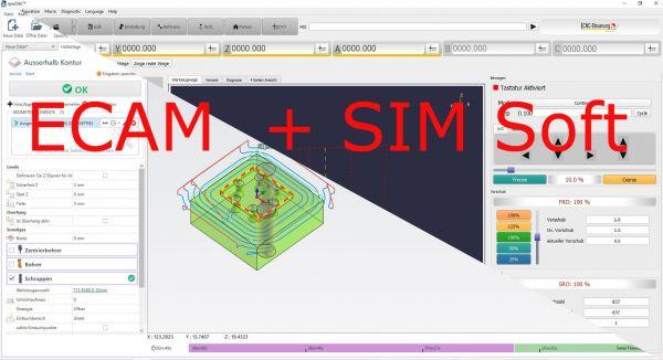 SIM Software mit ECAM Fräsen