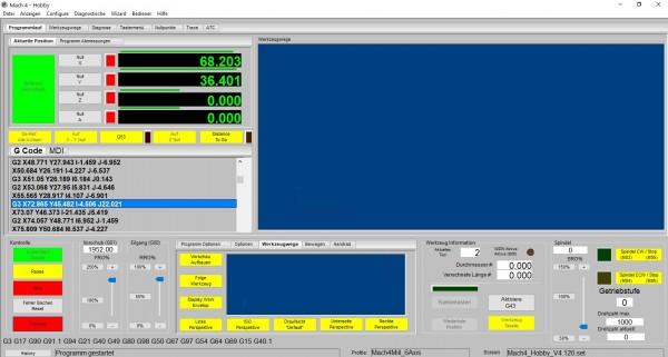 """Mach4 Software Privat Version """"Fräsen"""""""