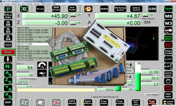 IP-S-6 Ethernet Controller mit Mach3 Drehen incl. Handrad