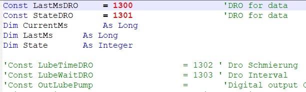 OEM Buttons Code Liste Mach3 Software