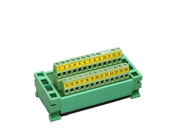 Din-Schienenanschlussblock 25 polig